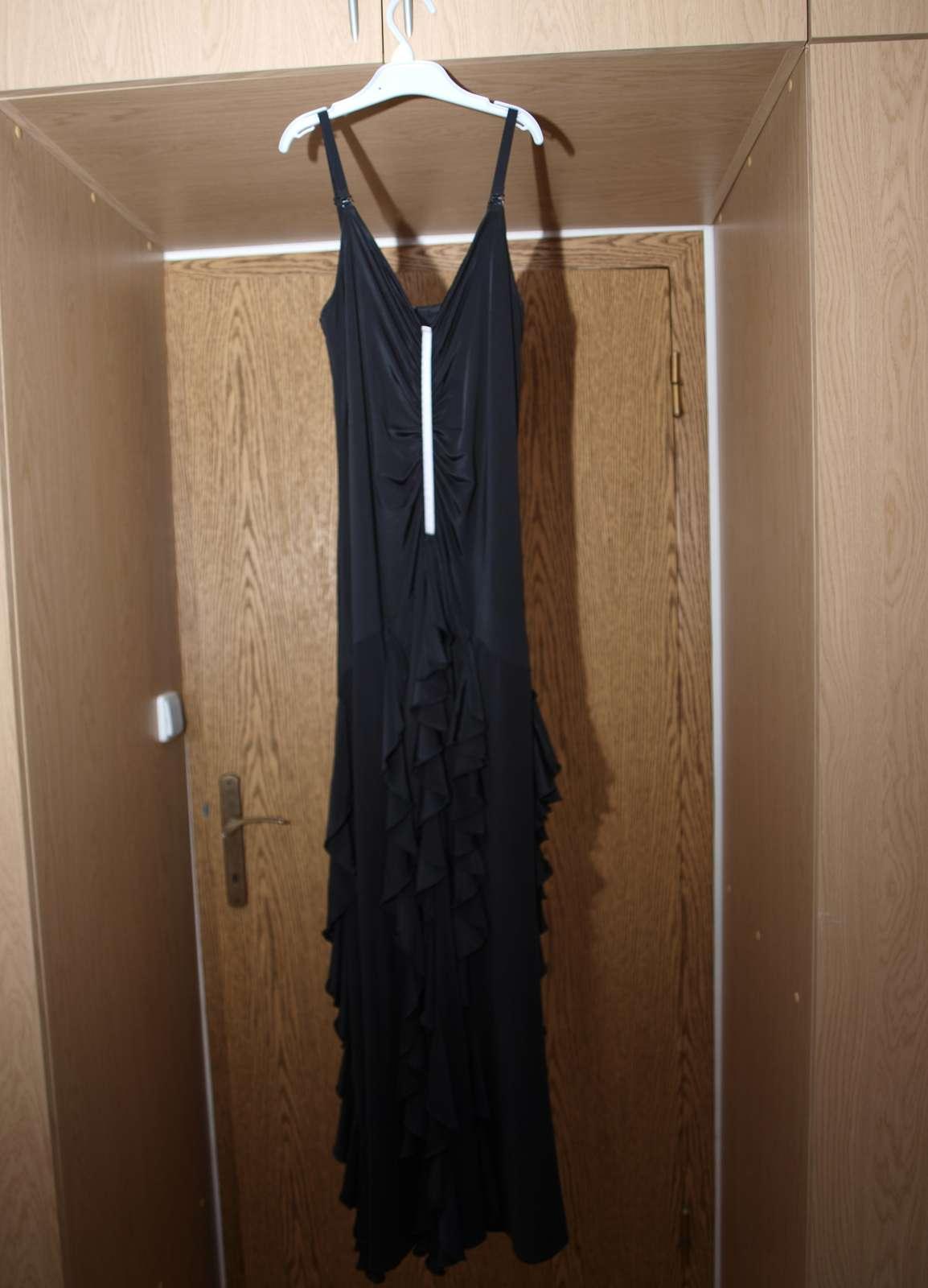 Čierne spoločenské šaty - veľ. S/M - Obrázok č. 1