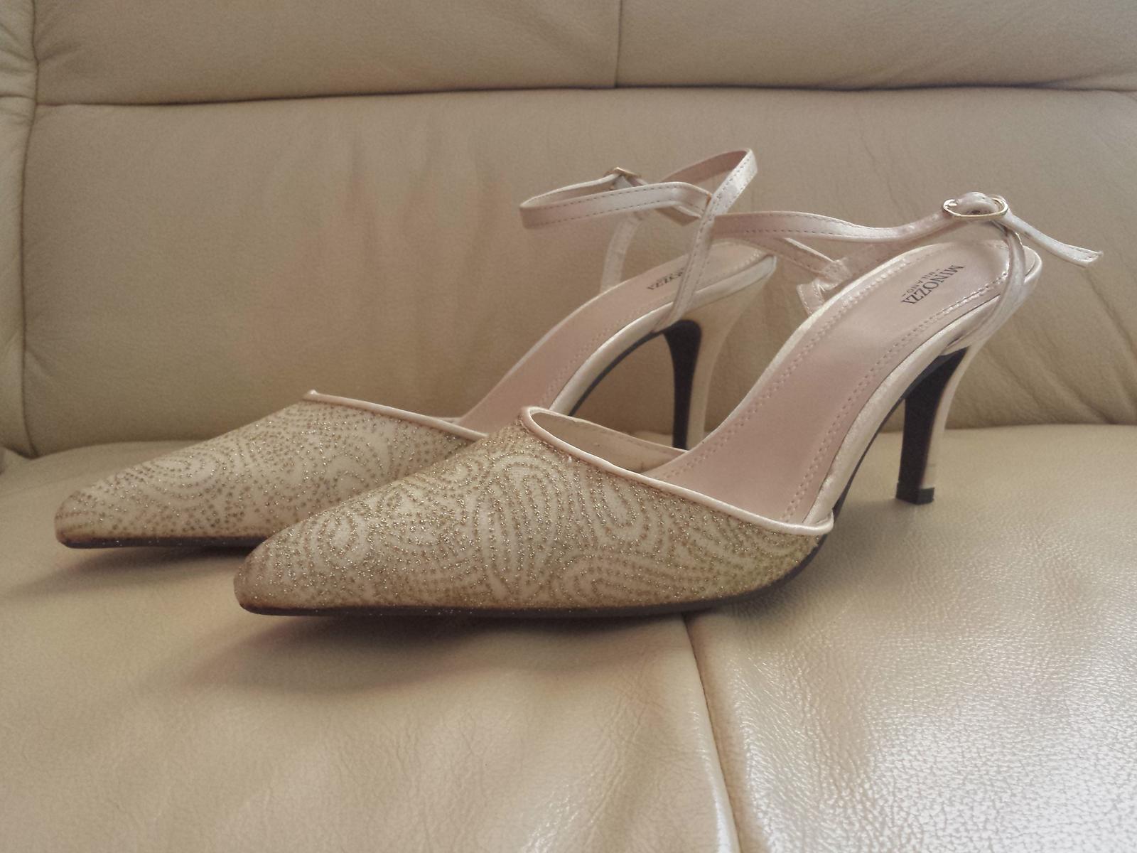 Spoločenské poltopánky - 1 x obuté  - Obrázok č. 1