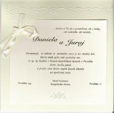 NAŠE svadobné oznámenie