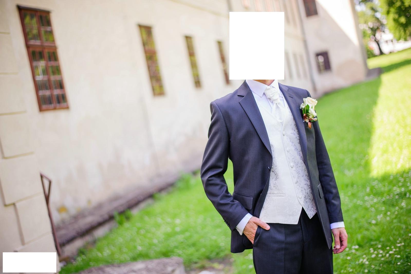 svadobná vesta, kravata a záložka  - Obrázok č. 1