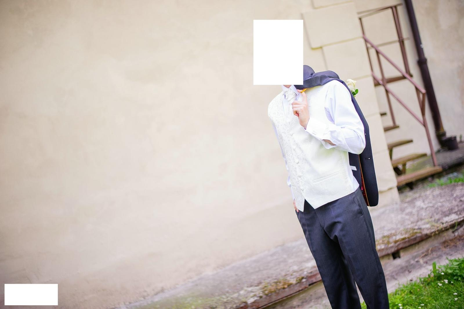 svadobná vesta, kravata a záložka  - Obrázok č. 2
