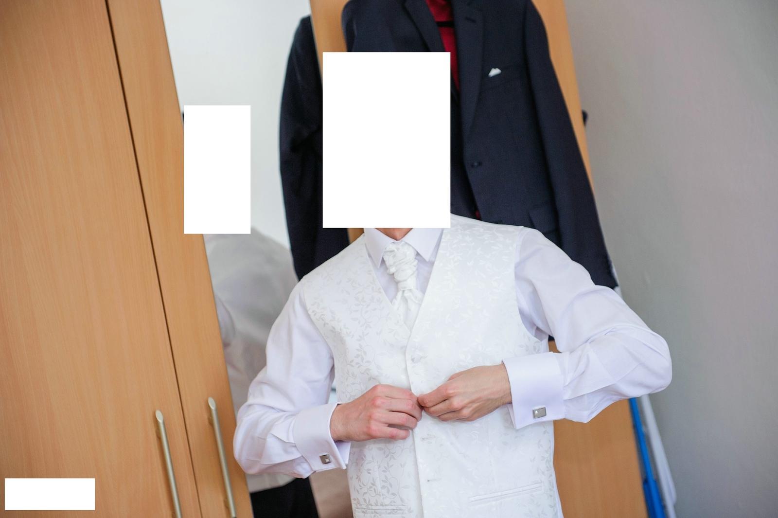 svadobná vesta, kravata a záložka  - Obrázok č. 3