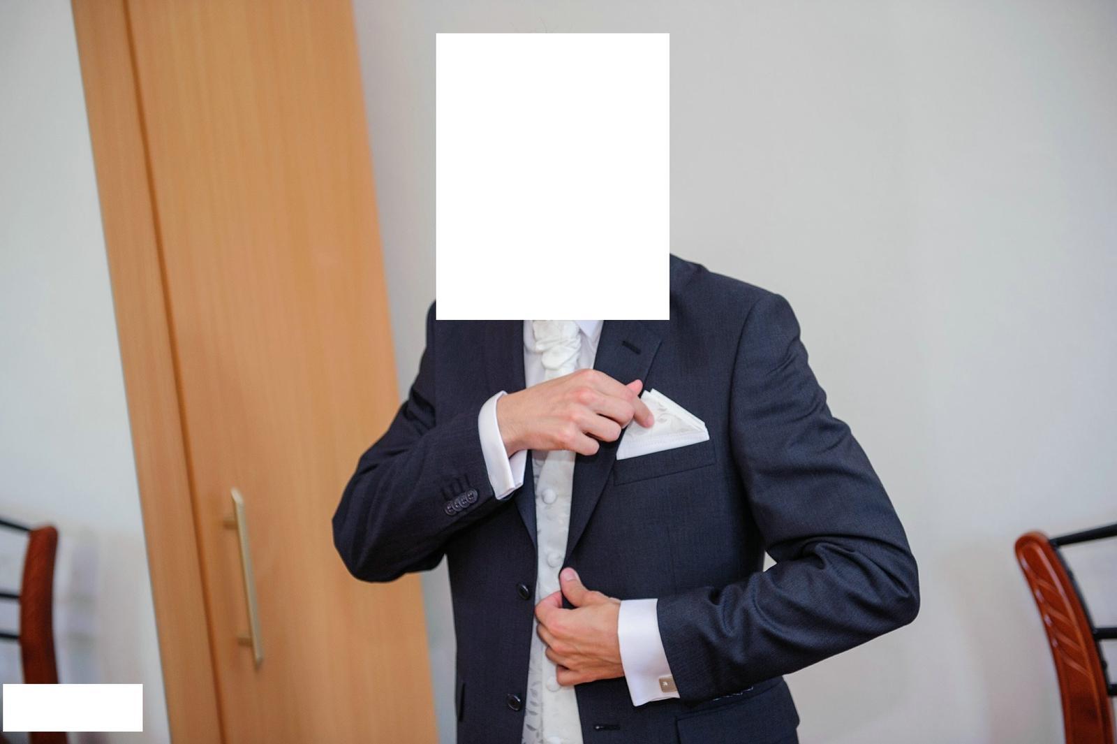 svadobná vesta, kravata a záložka  - Obrázok č. 4