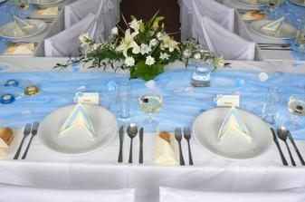 Moje vlastní svatební tabule - svícny