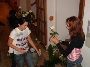 piatok vecer - vyzdoba kostola :-)