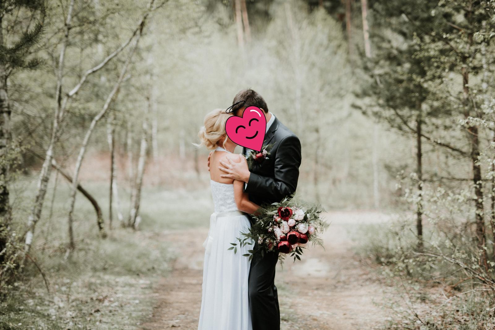 Muselinove svadobne saty s cipkovym topom - Obrázok č. 1