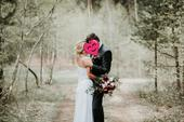 Muselinove svadobne saty s cipkovym topom, 36