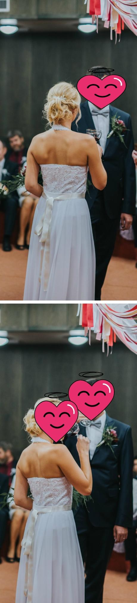 Muselinove svadobne saty s cipkovym topom - Obrázok č. 3