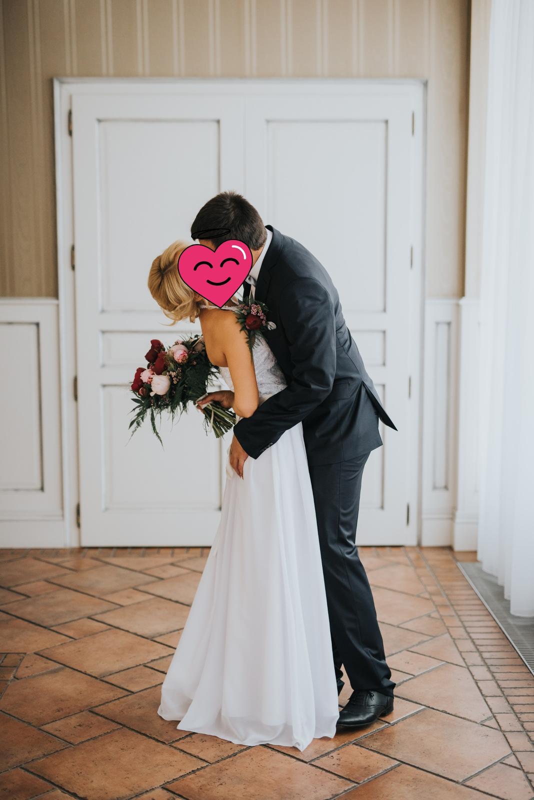 Muselinove svadobne saty s cipkovym topom - Obrázok č. 4
