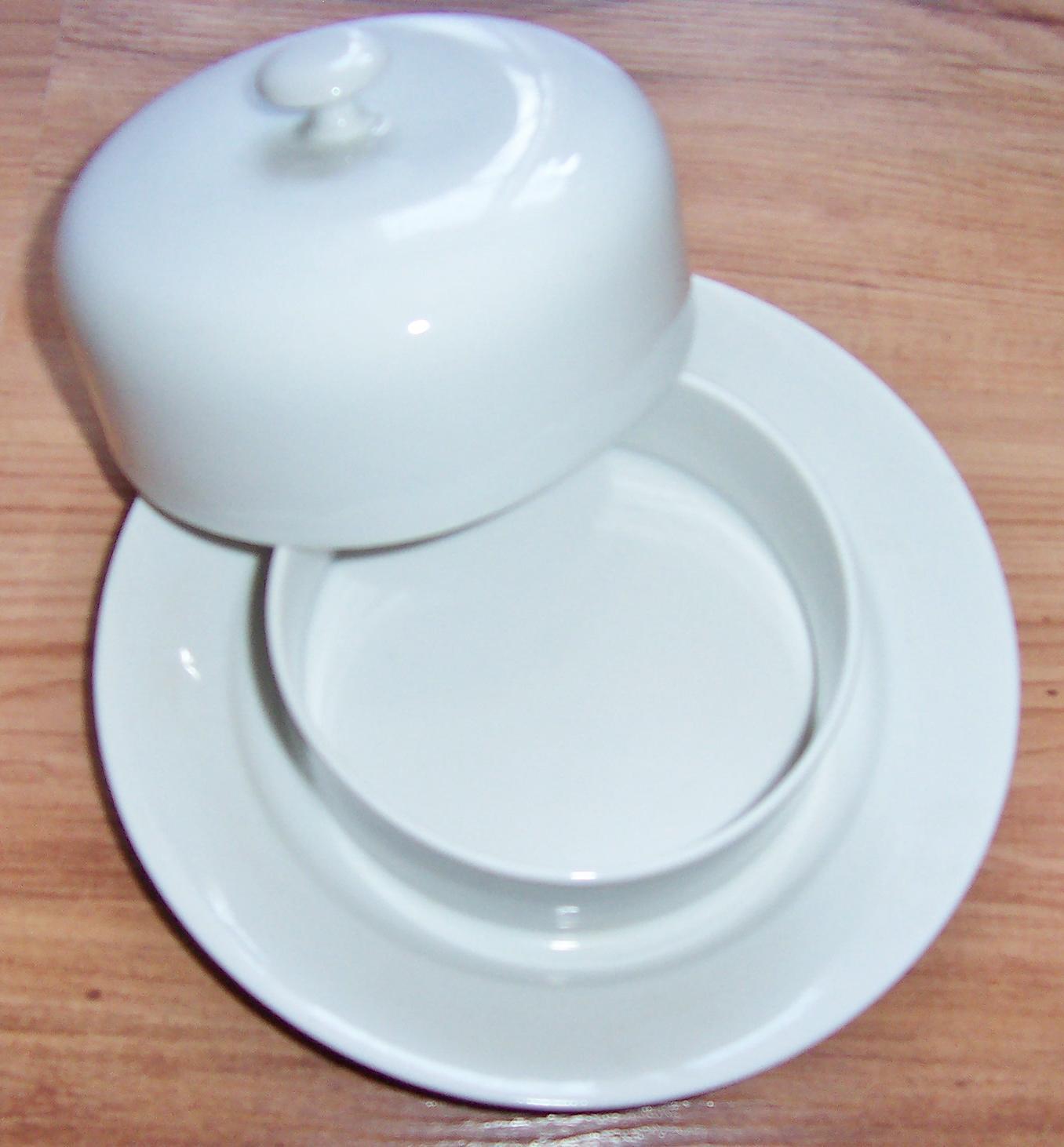 Miska na maslo,porcelánová - Obrázok č. 1