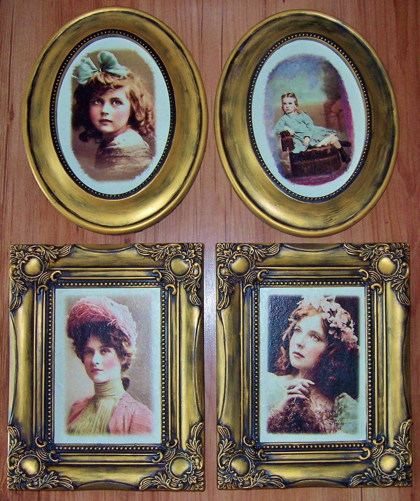 Obrazy v štýle vintage - portréty - Obrázok č. 1