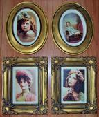 Obrazy v štýle vintage - portréty,