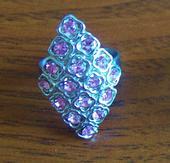 Elegantné štrasové prstene,2ks,