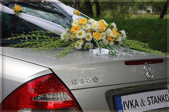 Vyzdoby svadobných  áut - Obrázok č. 65