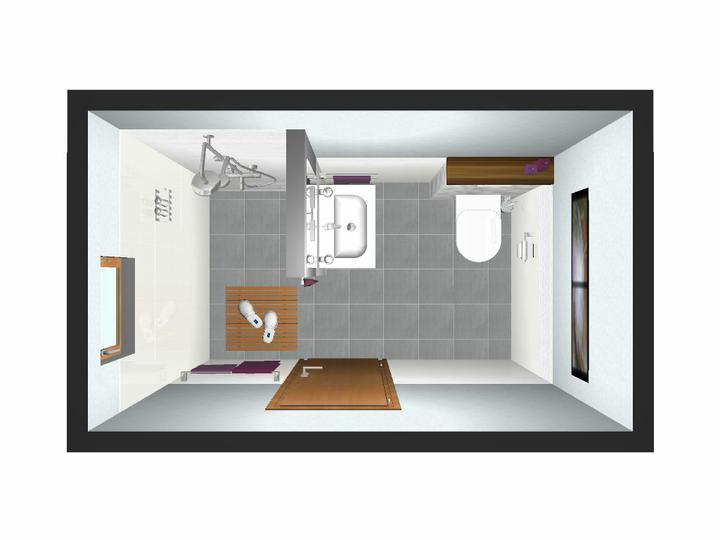 Náš bungalov Archikom1 - vizualizacia malej kupelne