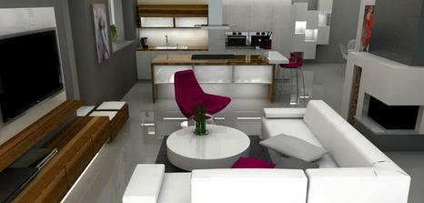 vizualiuzacia kuchyne,obyvacky a jedalne