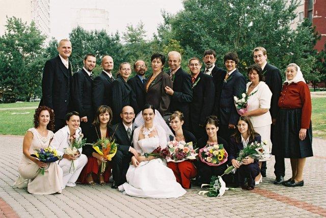 Katka Čulenová{{_AND_}}Mirko Polák - vsetci svadobcania