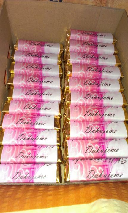 D & A :) - cokoladky pre hosti