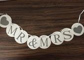 Rekvizity na fotenie Mr. & Mrs., Just Married,