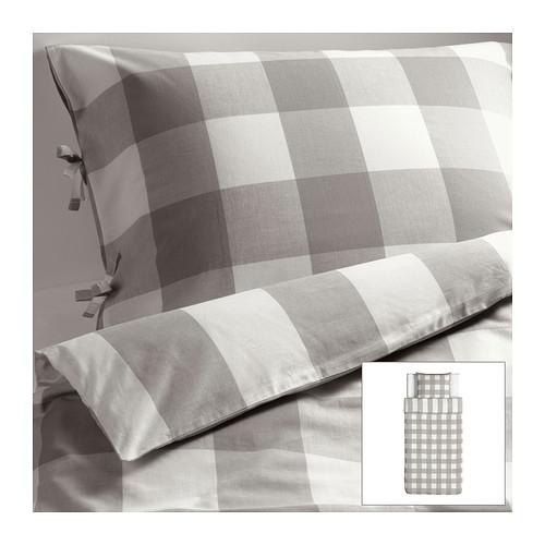 Niečo čo sa nám páči-niečo čo inšpiruje nás a možno aj vás :) :):) - EMMIE RUTA Posteľné obliečky, šedá, biela € 24,99-100%bavlna