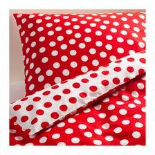 STENKLÖVER Posteľné obliečky, biela, červená € 14,99