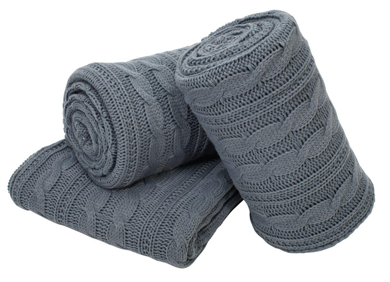 Niečo čo sa nám páči-niečo čo inšpiruje nás a možno aj vás :) :):) - Deka MARGERITT 130x180 pletená sivá 1 ks 26,- €