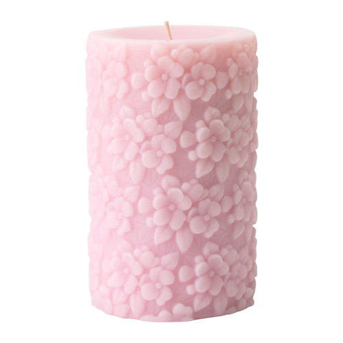 Niečo čo sa nám páči-niečo čo inšpiruje nás a možno aj vás :) :):) - FULLGOD Vonná sviečka, Čerstvé kvety, ružová € 3,99   14cm