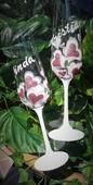 Svadobné poháre  Heart old pink,