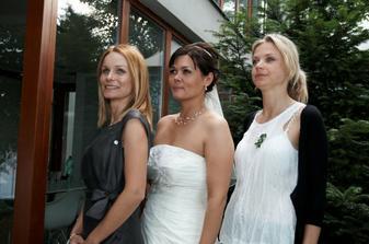 tři sudičky: svědkyně, nevěsta, kamarádka