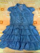 Nenosené šaty s volánikovou sukničkou, M