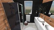 Takto  nejako  bude vyzerať kúpelka , len už máme objednané čierne umyvadlá sklenené, namiesto bielych