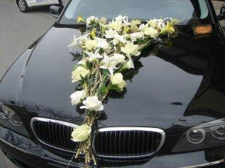 Autocorso něvěsty i ženicha - opět lilie