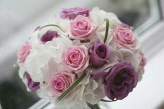 hortenzie, růže, eustoma