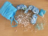modré svatební vyzdoby,