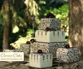 cokoladove Calla kvety hore na torte...