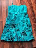 Tyrkysové plesové šaty, vel. 22, 52