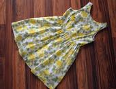 Společenské šaty se žlutými růžemi, vel 40 - 42, 40