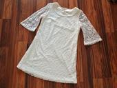 Krajkové bílé (svatební) šaty, 44