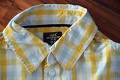 Košile s dlouhým rukávem žluto-modrá, 104