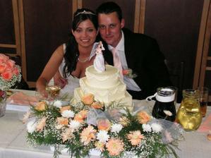 Náš svatební dort, byl moc krásný a vyborný