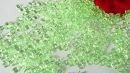 zelené kapičky rosy