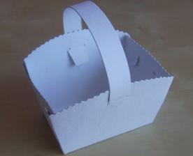 mini košíček na výslužky