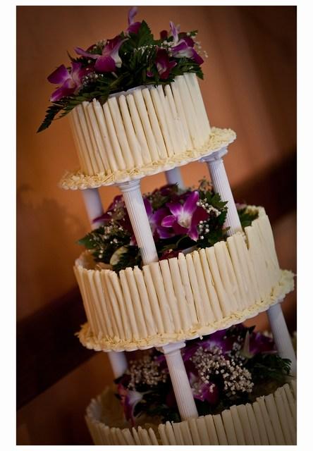 Radka{{_AND_}}Tomáš - náš svatební dort z bílé belgické čokolády byl vynikající