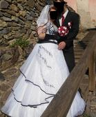 Čiernobiele svadobné šaty 38-46, 46