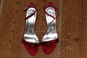 Červené sandálky, 35
