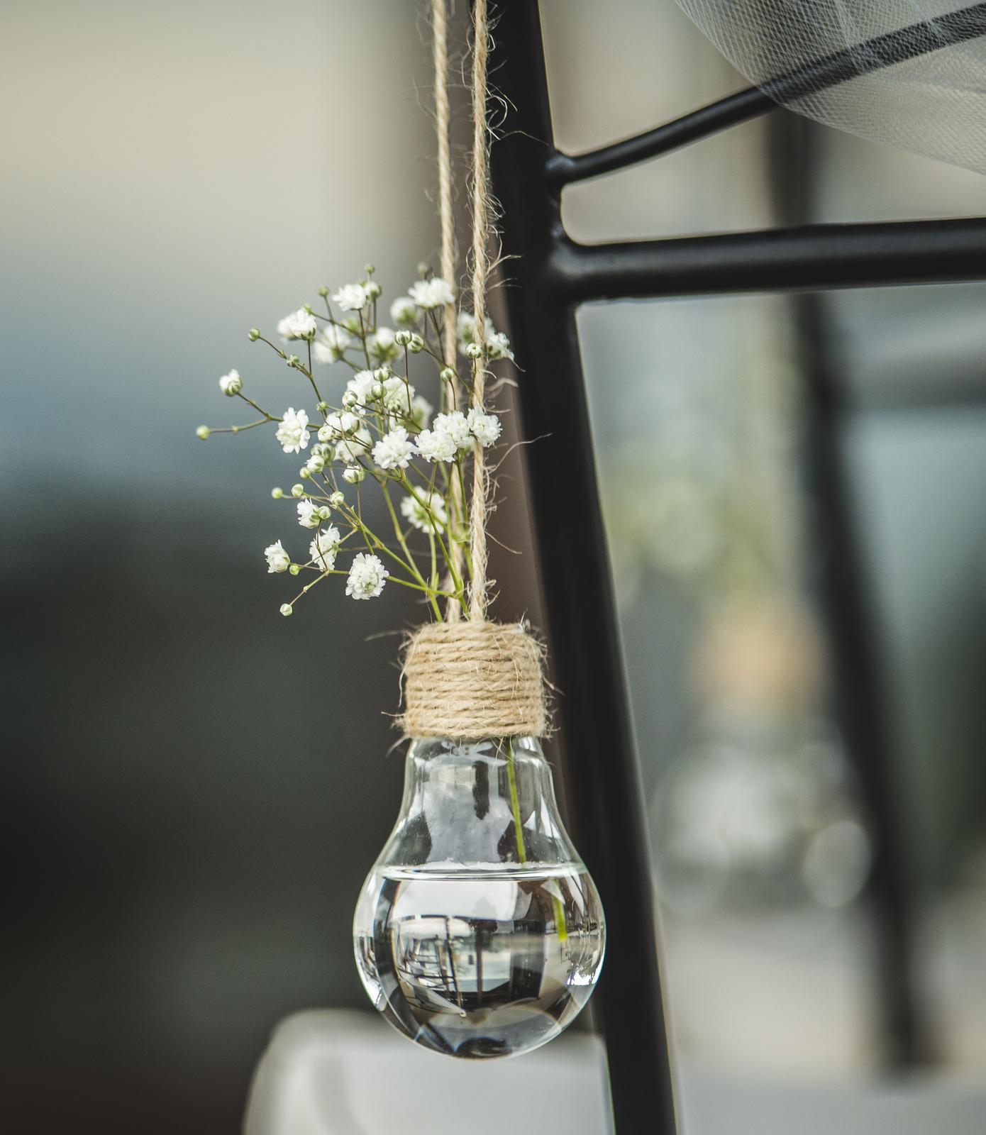 Vázičky s jutou rustikální venkovský styl, váza - Obrázek č. 1
