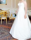 Svatební šaty zeštíhlující, 38