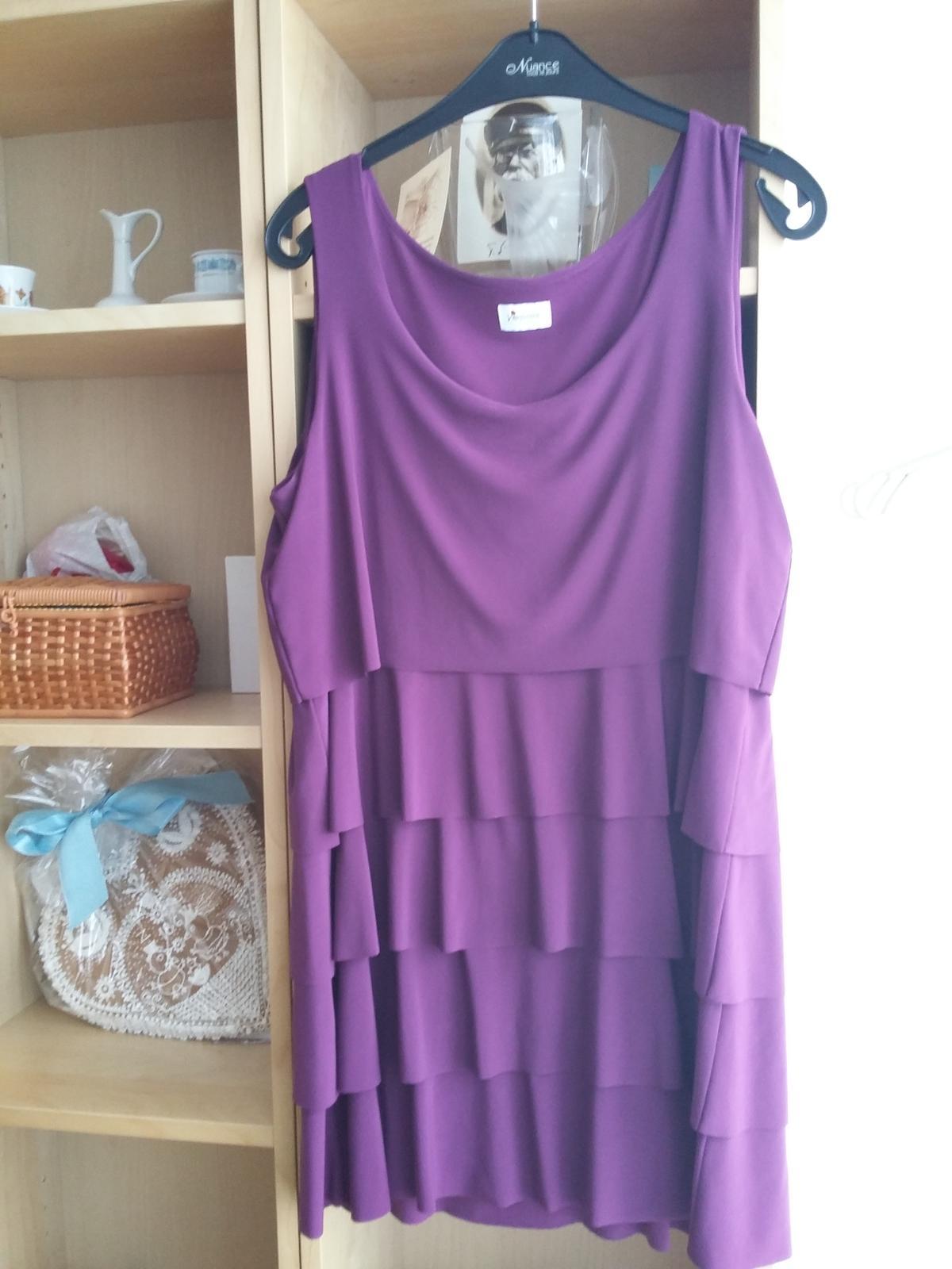 Fialové krátké šaty vel. 42 - Obrázek č. 1