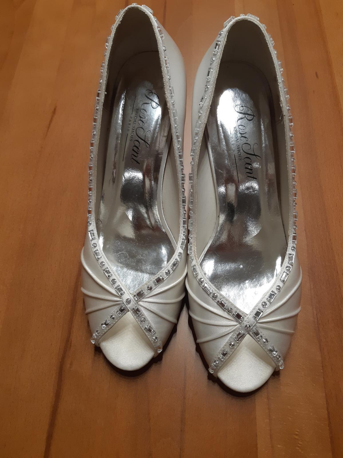 Svatební boty/lodičky vel.40 - Obrázek č. 1