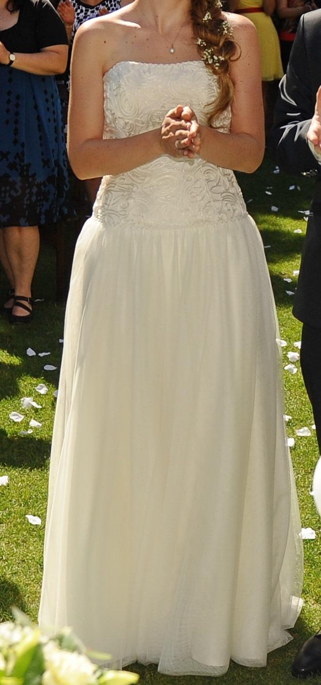 Svatební šaty šampaň s originálním korzetem - Obrázek č. 1